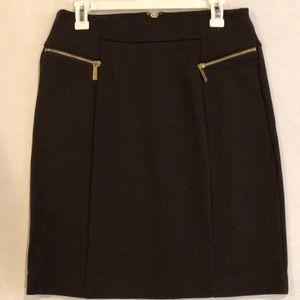 MICHAEL KORS Brown Knit Skirt SZ 8 (A609)